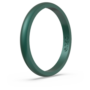Birthstone Classic Halo Silicone Ring Emerald