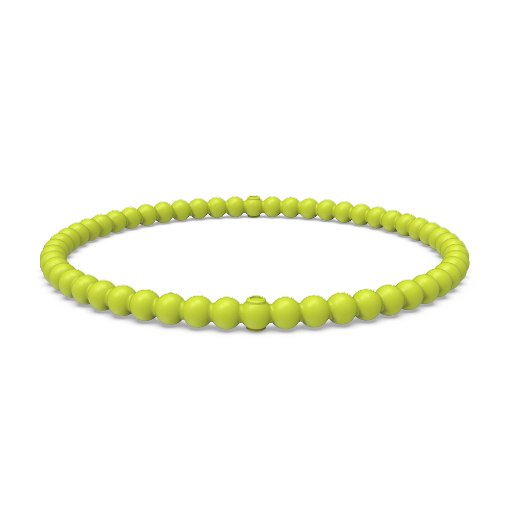 Beaded Stackable Silicone Bracelet - Lightning
