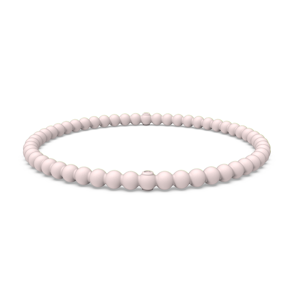 Beaded Stackable Silicone Bracelet - Pink Sand