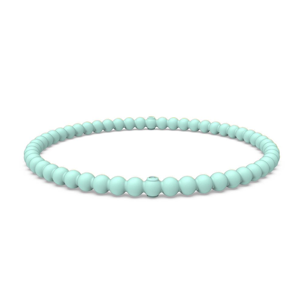 Beaded Stackable Silicone Bracelet - Turquoise
