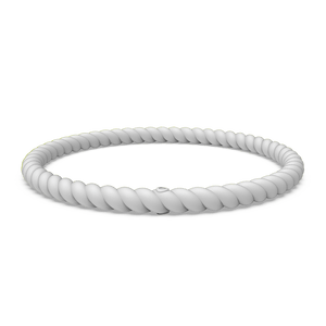 Braided Stackable Silicone Bracelet - Misty Grey