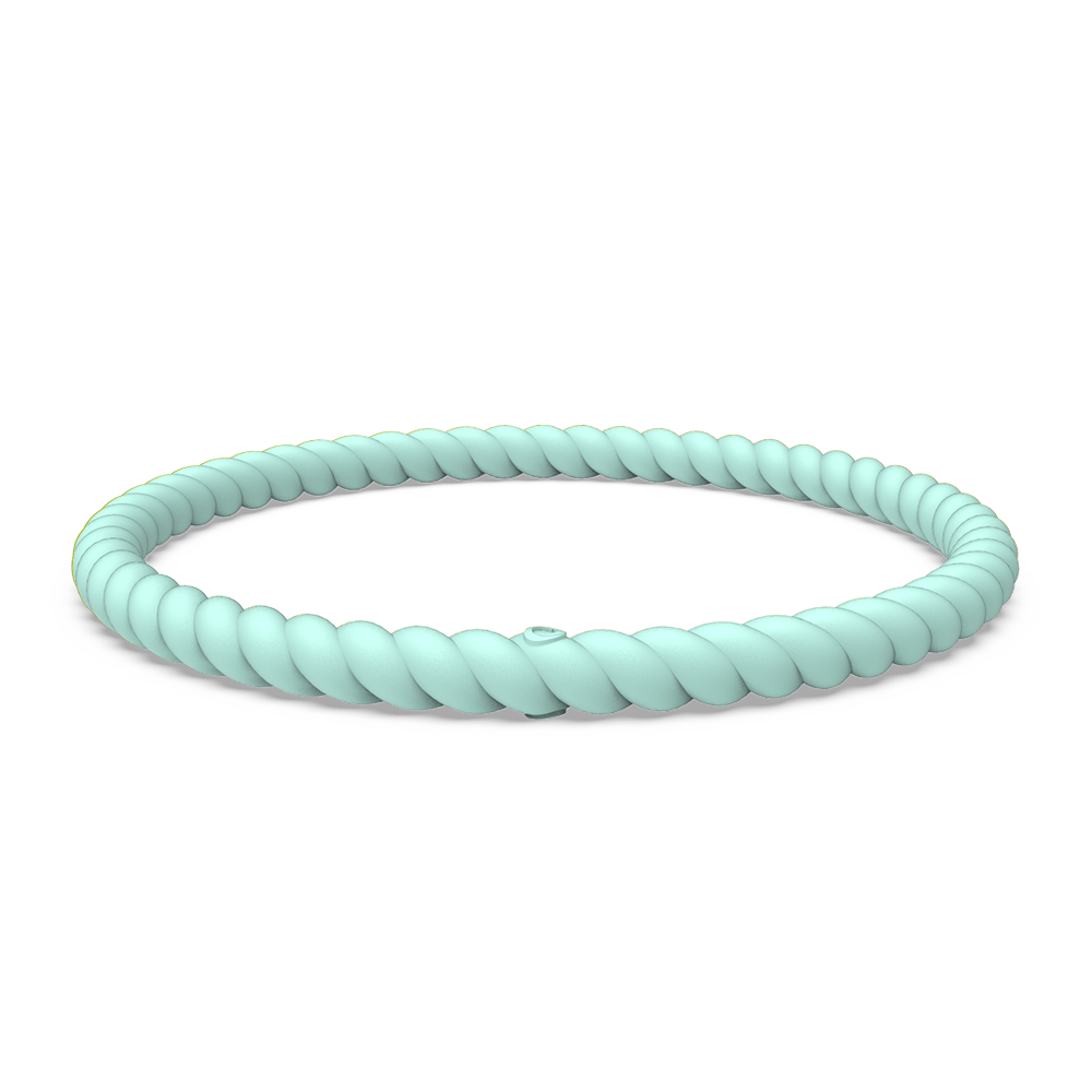 Braided Stackable Silicone Bracelet - Turquoise