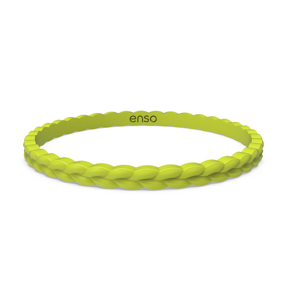 Weave Stackable Silicone Bracelet - Lightning