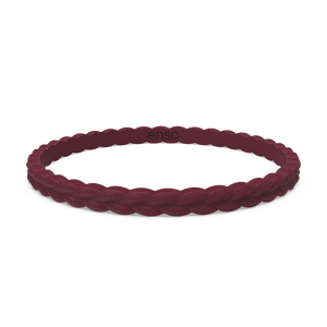 Weave Stackable Silicone Bracelet - Oxblood