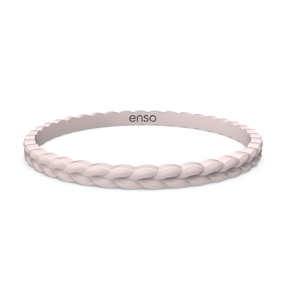 Weave Stackable Silicone Bracelet - Pink Sand