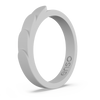 Feather Stackable Silicone Ring Misty Grey
