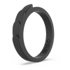 Feather Stackable Silicone Ring Obsidian
