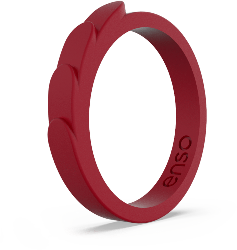 Feather Stackable Silicone Ring Oxblood