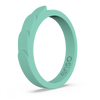 Feather Stackable Silicone Ring Shamrock