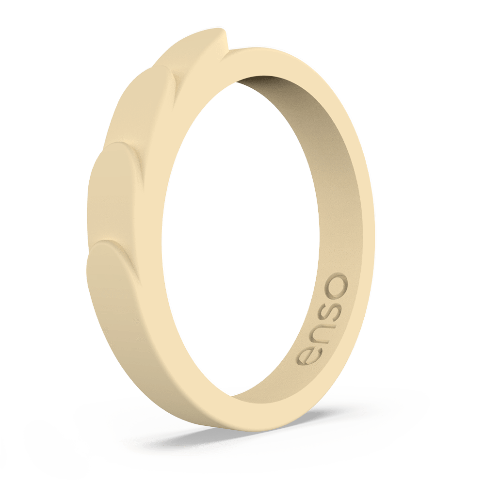 Feather Stackable Silicone Ring Sunlight