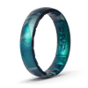 Handcrafted Thin Silicone Ring - Forest