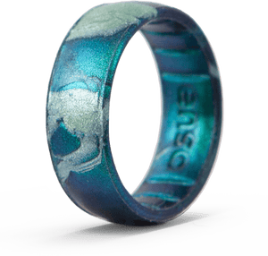 Handcrafted Classic Silicone Ring - Forest