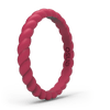 Braided Stackable Silicone Ring - Hibiscus
