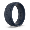 Men's Infinity Silicone Ring Navy Blue