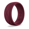 Men's Infinity Silicone Ring Oxblood