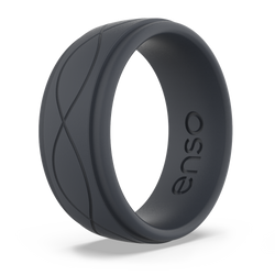 Men's Infinity Silicone Ring Slate