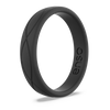 Women's Infinity Silicone Ring Obsidian