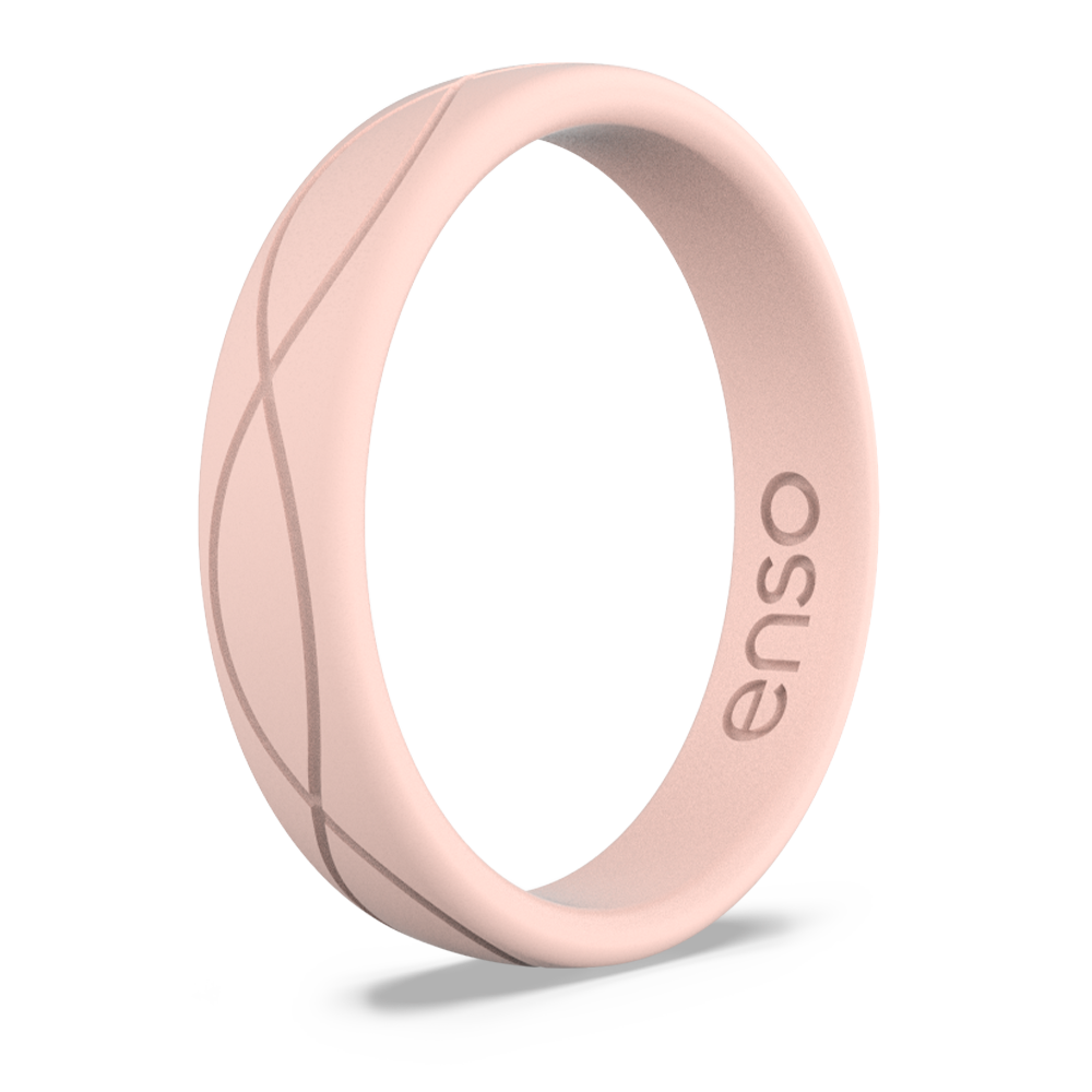 Women's Infinity Silicone Ring Pink Sand Lifestyle