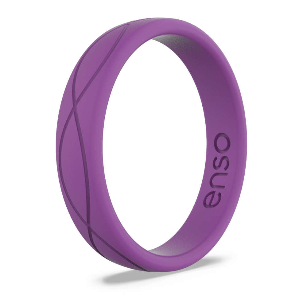 Women's Infinity Silicone Ring Plum