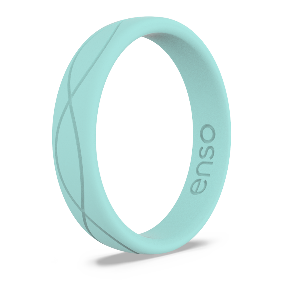 Women's Infinity Silicone Ring Turquoise