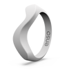 Wave Accent Silicone Ring Misty Grey