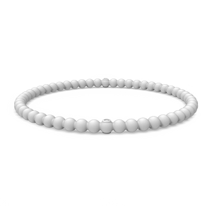 Beaded Stackable Silicone Bracelet - Misty Grey