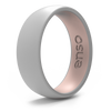 Dual Tone Silicone Ring Misty Grey / Pink Sand