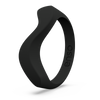 Wave Accent Silicone Ring Obsidian