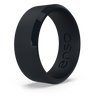 Bevel Silicone Ring Obsidian