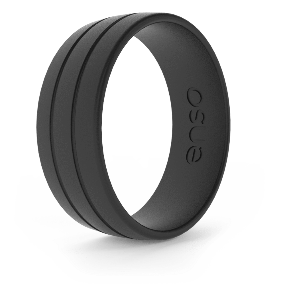 Ultralite Silicone Ring Obsidian