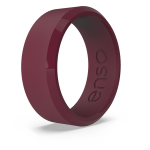 Bevel Silicone Ring Oxblood