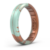 Handcrafted Thin Silicone Ring Copper Patina