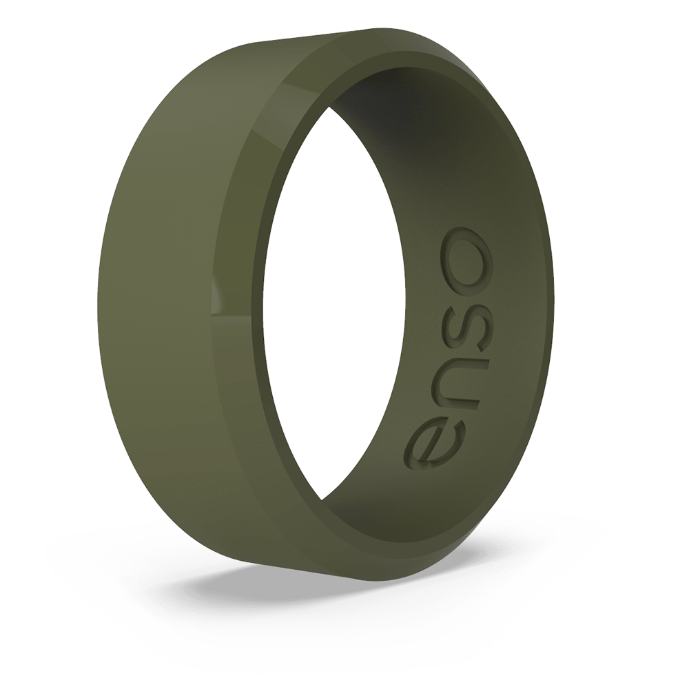 Bevel Silicone Ring Pine