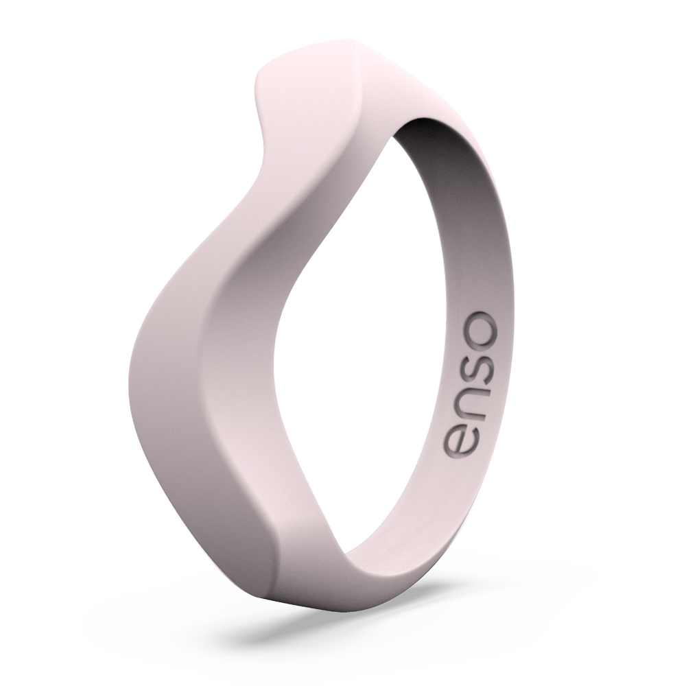 Wave Accent Silicone Ring Pink Sand