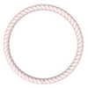 Braided Stackable Silicone Bracelet - Pink Sand Top