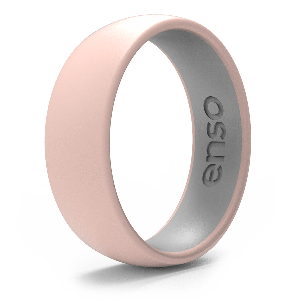 Dual Tone Silicone Ring Pink Sand / Misty Grey