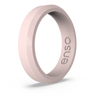 Bevel Thin Silicone Ring Pink Sand