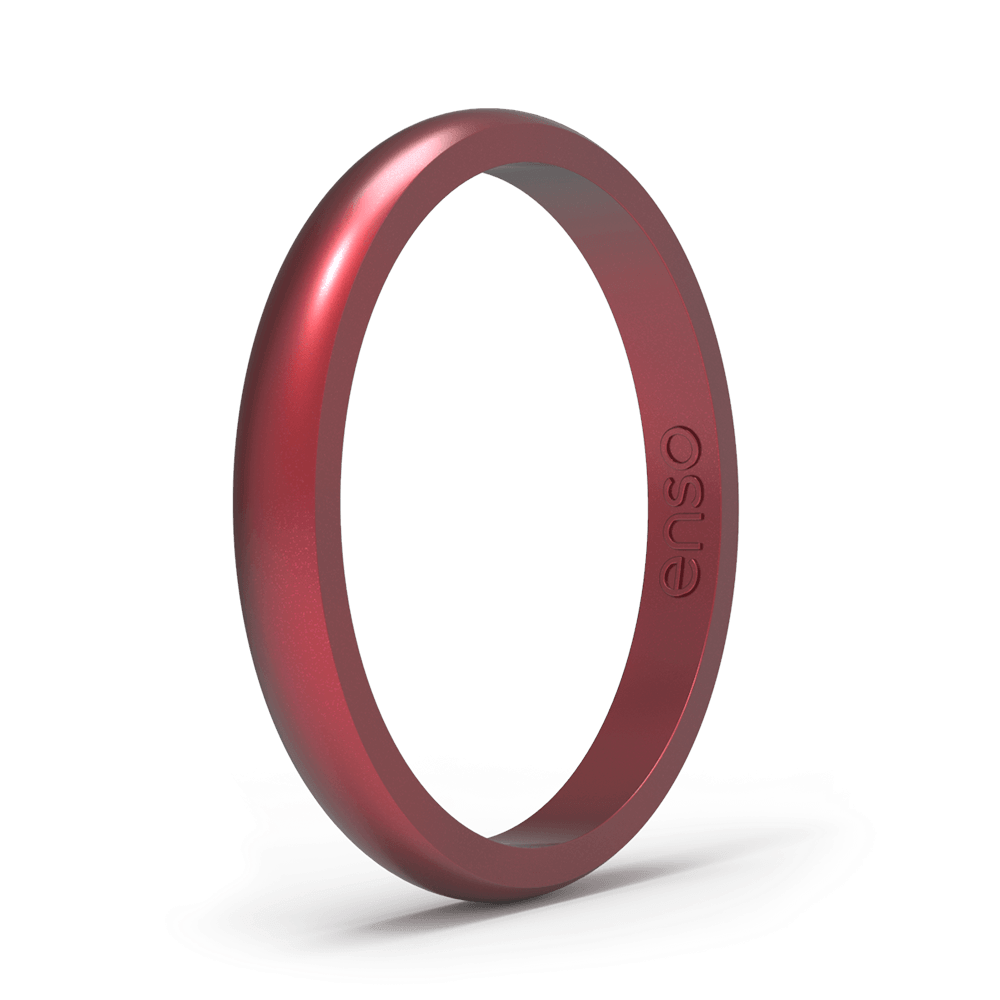 Elements Classic Halo Silicone Ring Ruby