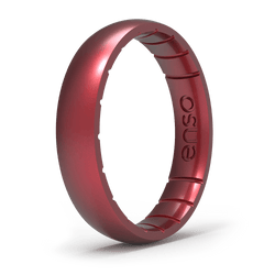 Elements Classic Thin Silicone Ring Ruby