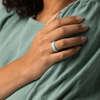 Women's Infinity Silicone Ring Turquoise Detail