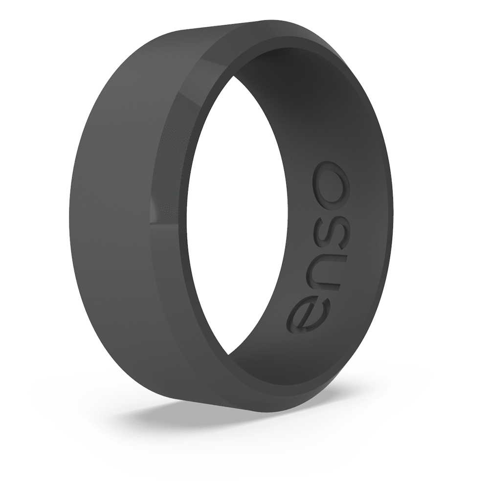 Bevel Silicone Ring Slate