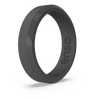 Bevel Thin Silicone Ring Slate