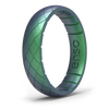 Etched Classic Thin Silicone Ring Dragon Scale