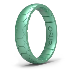Etched Classic Thin Silicone Ring Medusa Snake