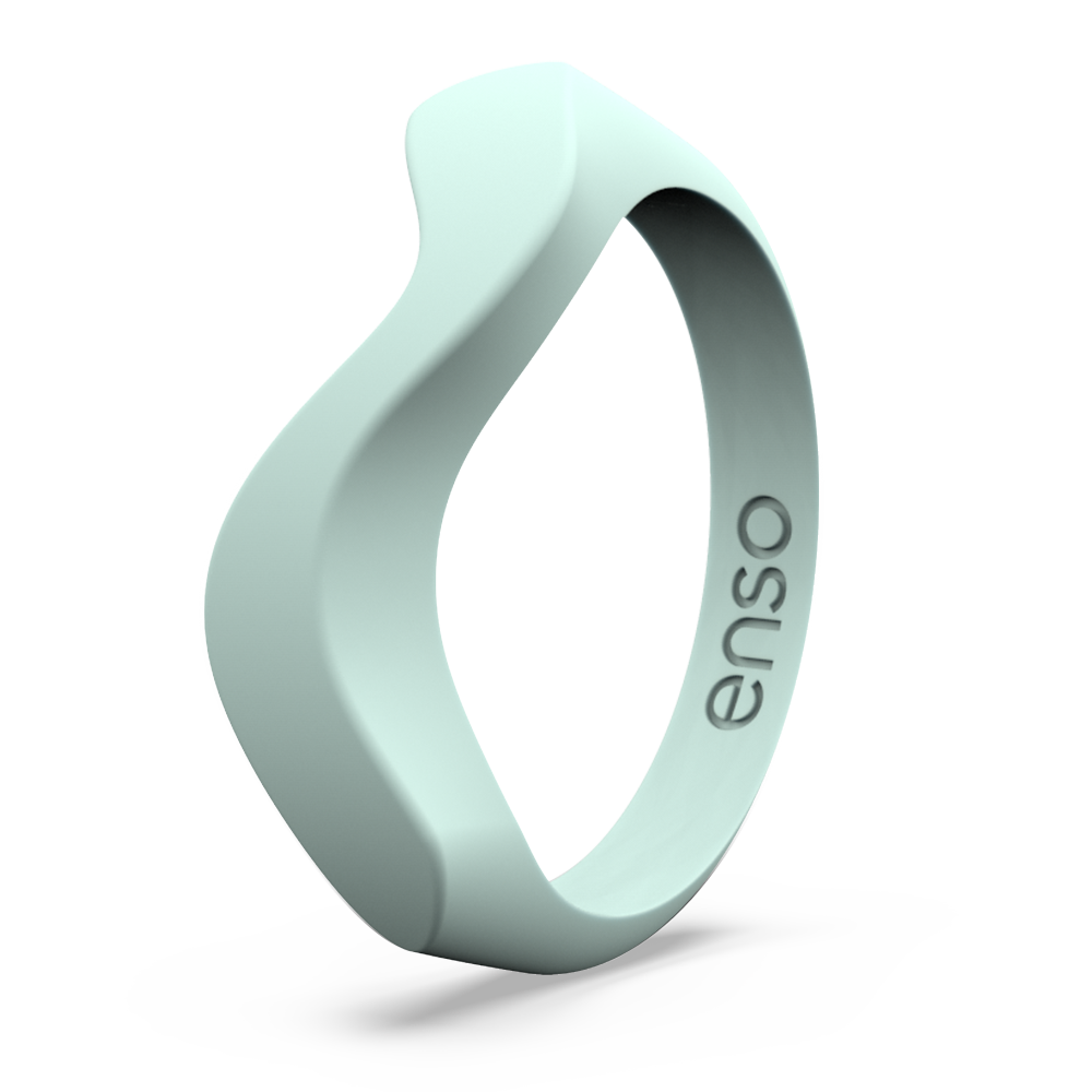 Wave Accent Silicone Ring Turquoise