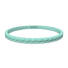 Weave Stackable Silicone Bracelet - Turquoise