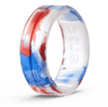 Handcrafted Classic Silicone Ring Red, White, & Blue