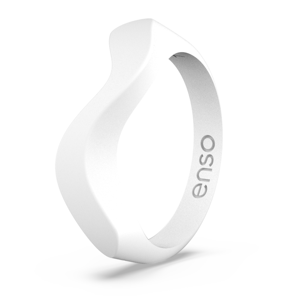 Wave Accent Silicone Ring White