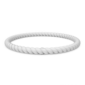 Braided Stackable Silicone Bracelet - White