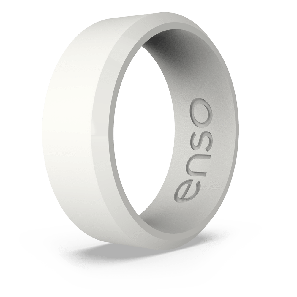 Bevel Silicone Ring White